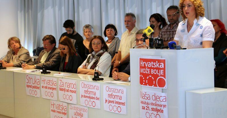 Sindikati, HUP i udruge civilnog društva složni u podršci Cjelovitoj kurikularnoj reformi